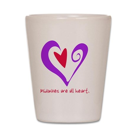 MidwivesHeartPurple Shot Glass
