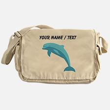 Custom Blue Dolphin Messenger Bag
