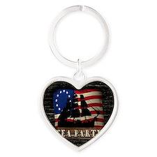 ship_cp_button Heart Keychain