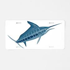 sailfish coming Aluminum License Plate