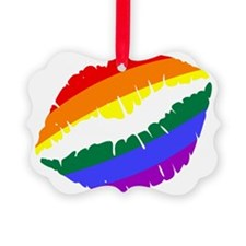 Rainbow Lips Ornament