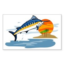 blue marlin jumping Decal