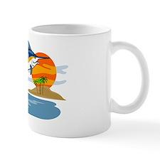 blue marlin jumping Mug