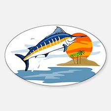 blue marlin jumping Decal
