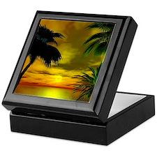 Tropical sunset Keepsake Box