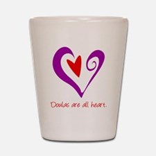 DoulaHeartRect Shot Glass