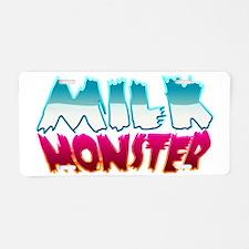 milk_monster Aluminum License Plate
