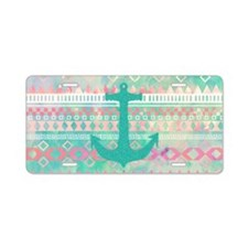 Emerald Nautical Anchor Pas Aluminum License Plate