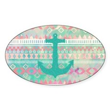 Emerald Nautical Anchor Pastel Wate Decal