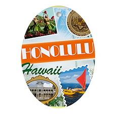 hawaii Oval Ornament