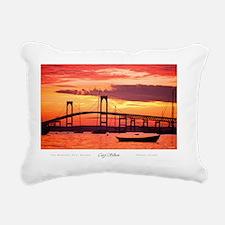 Newport-Bridge Rectangular Canvas Pillow