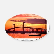Newport-Bridge Oval Car Magnet