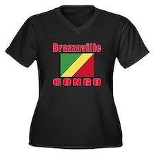 Brazzaville Congo Designs Women's Plus Size V-Neck