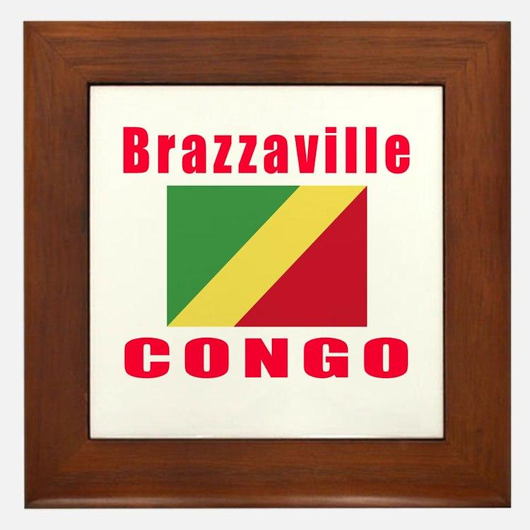 Brazzaville Congo Designs Framed Tile