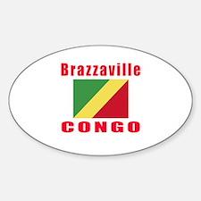 Brazzaville Congo Designs Sticker (Oval)