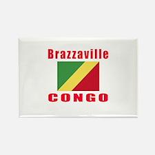 Brazzaville Congo Designs Rectangle Magnet