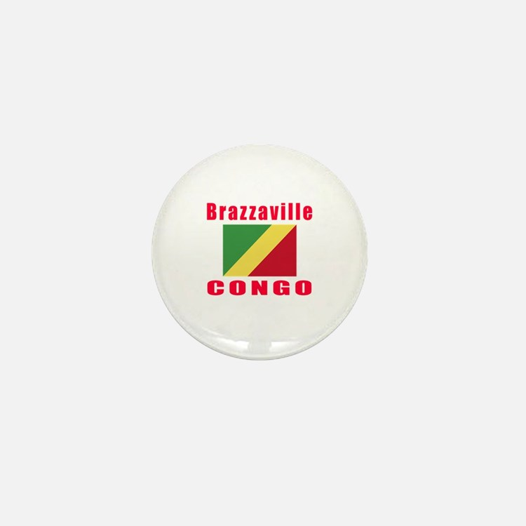 Brazzaville Congo Designs Mini Button