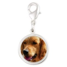 goldens Silver Round Charm