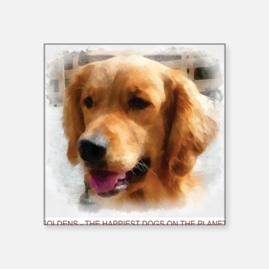 "goldens Square Sticker 3"" x 3"""