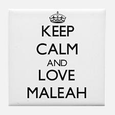 Keep Calm and Love Maleah Tile Coaster
