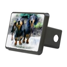 dachshunds Rectangular Hitch Cover