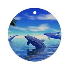 Dolphins Round Ornament