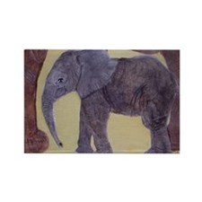 Crop - Momma Elephant  Baby copy Rectangle Magnet