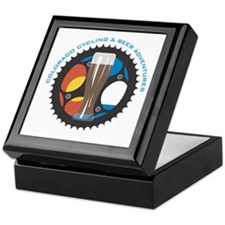 bike beer logo black Keepsake Box