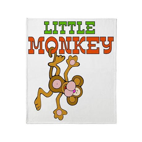 little_monkey Throw Blanket