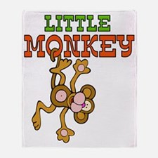 little_monkey Throw Blanket