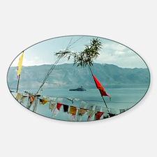 tibitan prayer flags Sticker (Oval)