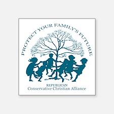 """Conservative Christian Alli Square Sticker 3"""" x 3"""""""