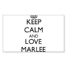 Keep Calm and Love Marlee Decal