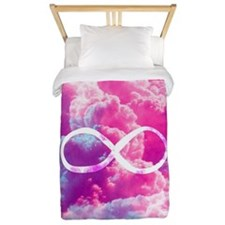 Girly Infinity Symbol Bright Pink Cloud Twin Duvet