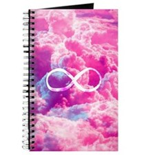 Girly Infinity Symbol Bright Pink Clouds S Journal