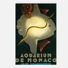 Carlu Aquarium De Monaco1 Postcards (Package of 8)
