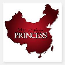 "My Asian Princess Square Car Magnet 3"" x 3"""