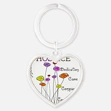 Hospice Heart Keychain