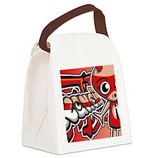 ImpNoteCardKanji Canvas Lunch Bag