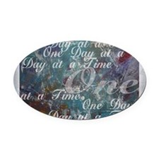 ONE-DAY-PSTR Oval Car Magnet