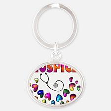 HOSPICE Oval Keychain