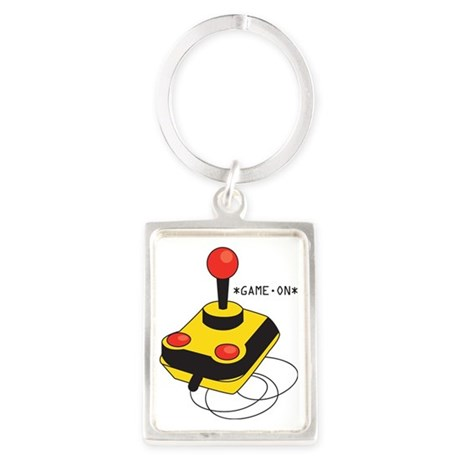 Game On Joystick Portrait Keychain