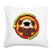 Defiant Monkey No Tag Square Canvas Pillow