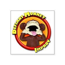 "Defiant Monkey No Tag Square Sticker 3"" x 3"""
