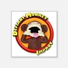 "Defiant Monkey No Tag Square Sticker 3"" x 3"""