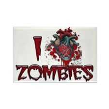 i heart zombies Rectangle Magnet
