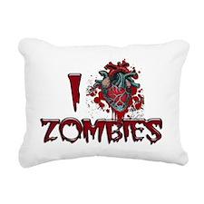 i heart zombies Rectangular Canvas Pillow