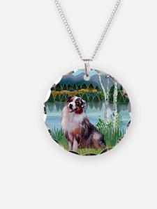 Birches - Australian Shepher Necklace