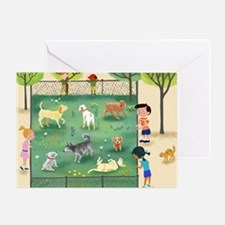 dog_park_calendar Greeting Card