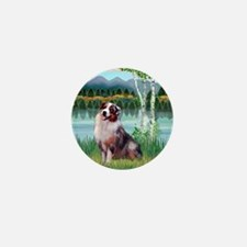 Birches - Australian Shepherd (merle 1 Mini Button